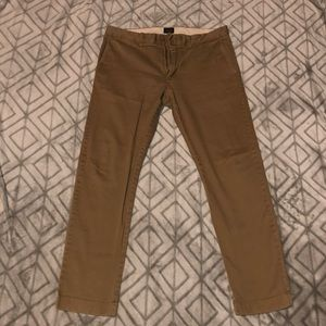 Dark Tan Men's J Crew Dress Pants